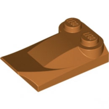 LEGO 4218671 PLATE W. BOWS 2X3½ - DARK ORANGE
