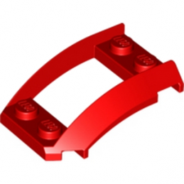 LEGO 4214735 PLATE 2X4X1 1/3 W. SIDE BOW - ROUGE