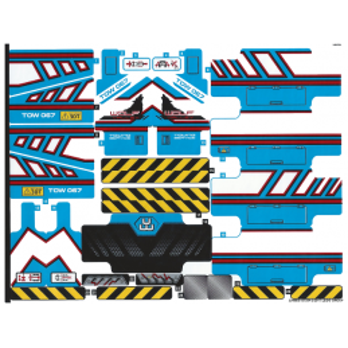 Stickers / Autocollant Lego Technic 42070