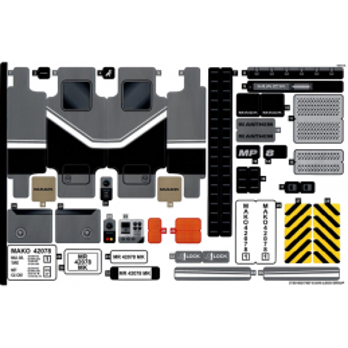 Stickers / Autocollant Lego Technic 42078