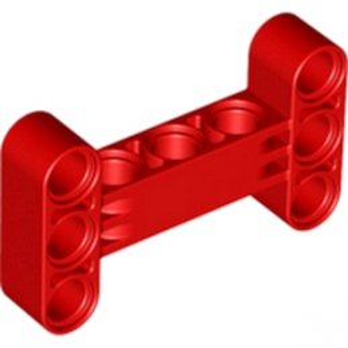 LEGO 6185105 BEAM I FRAME 3 x 5 90 Degr. HOLE Ø4.85 - ROUGE