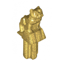 LEGO 6215047 DECOR CAPOT - MINI STATUETTE BULLDOG - WARM GOLD