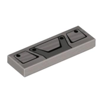 LEGO 6217511  IMPRIME CAMION 42078 1X3 - ARGENT
