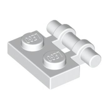 LEGO 254001 PLATE 1X2 W. STICK - BLANC lego-4140583-plate-1x2-w-stick-blanc ici :