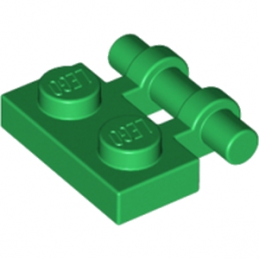LEGO 254028 PLATE 1X2 W. STICK - DARK GREEN