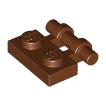 LEGO 4211209  PLATE 1X2 W. STICK - REDDISH BROWN