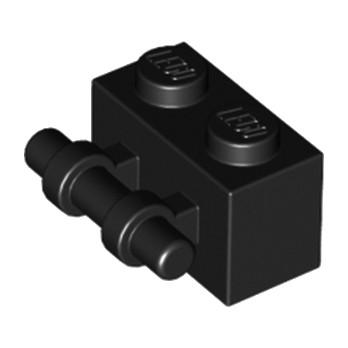 LEGO 4113243 BRIQUE 1X2 / STICK - NOIR