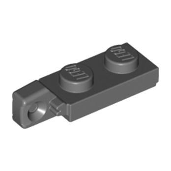 LEGO 4210883 PLATE 1X2 W/STUB VERTICAL/END - DARK STONE GREY lego-6266225-plate-1x2-wstub-verticalend-dark-stone-grey ici :