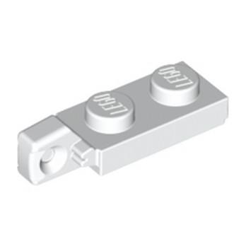 LEGO 4183035 PLATE 1X2 W/STUB VERTICAL/END - BLANC