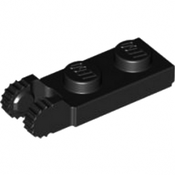 LEGO 6267045 PLATE 1X2 W/FORK/VERTICAL/END - NOIR