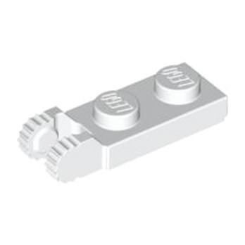 LEGO 4183048  PLATE 1X2 W/FORK/VERTICAL/END - BLANC
