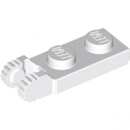 LEGO 6267044 PLATE 1X2 W/FORK/VERTICAL/END - WHITE