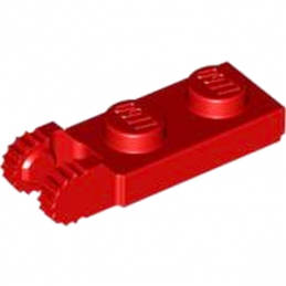 LEGO 4183050  PLATE 1X2 W/FORK/VERTICAL/END - ROUGE