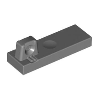 LEGO 4210882 PLATE 1X3 W/STUB/ALONG/U.P. - DARK STONE GREY
