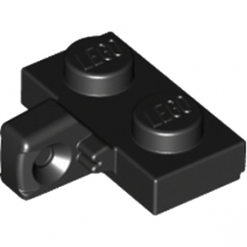 LEGO 4185620 PLATE 1X2 W. STUB/VERTICAL - NOIR