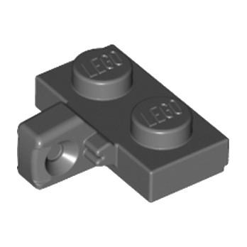 LEGO 4210892 PLATE 1X2 W. STUB/VERTICAL - DARK STONE GREY lego-6266248-plate-1x2-w-stubvertical-dark-stone-grey ici :