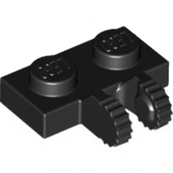LEGO 4515340 PLATE 1X2 W/FORK, VERTICAL - NOIR