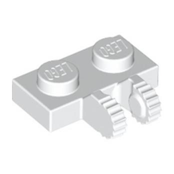 LEGO 4515337 PLATE 1X2 W/FORK, VERTICAL - BLANC