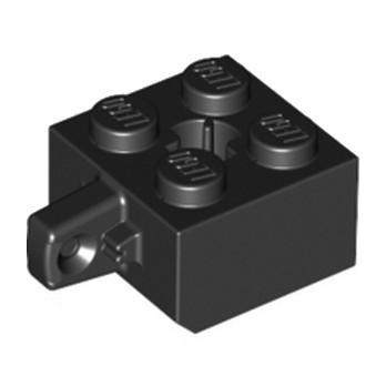 LEGO 4163904 BRIQUE 2X2 W/STUB VERTICAL - NOIR