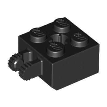 LEGO 4162235 BRIQUE 2X2 FRIC/FORK VERT./END - NOIR