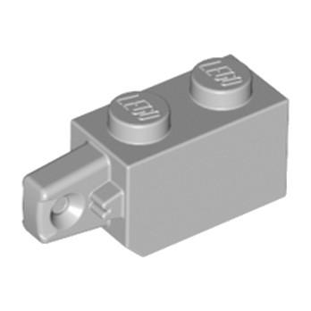 LEGO 4211693 BRIQUE 1X2 W/STUB VERTICAL END - MEDIUM STONE GREY