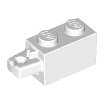 LEGO 6055883 BRIQUE 1X2 W/STUB HORIZ. END - BLANC