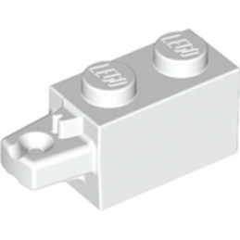 LEGO 6263488 BRICK 1X2 W/STUB HORIZ. END - WHITE
