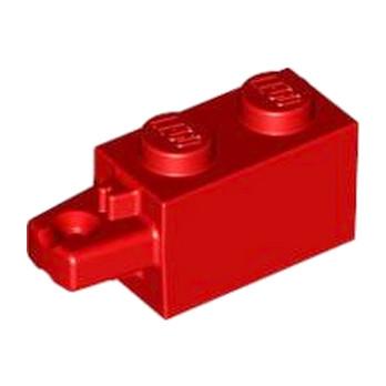 LEGO 4183012 BRIQUE 1X2 W/STUB HORIZ. END - ROUGE