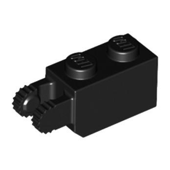 LEGO 4129975 BRIQUE 1X2/FRIC/FORK VERT./END - NOIR