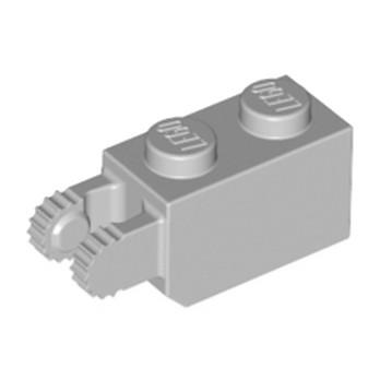 LEGO 4211694 BRIQUE 1X2/FRIC/FORK VERT./END - MEDIUM STONE GREY