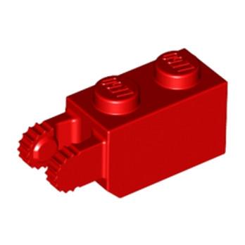 LEGO 3036521 BRIQUE 1X2/FRIC/FORK VERT./END - ROUGE