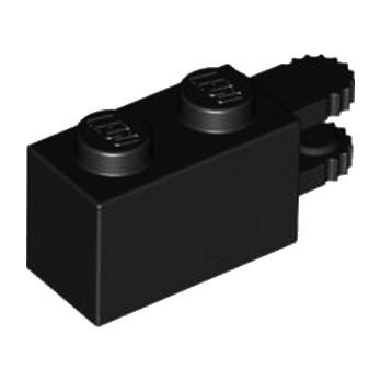 LEGO 6267131 BRICK 1X2 FRIC/FORK HORIZ.END - BLACK
