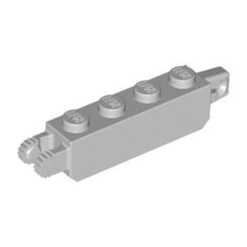 LEGO 4211695 BRIQUE 1X4 FRIC/STUB/FORK VERT. - MEDIUM STONE GREY