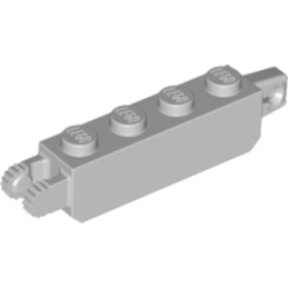 LEGO 4211695 BRIQUE 1X4 FRIC/STUB/FORK VERT. - MEDIUM STONE GREY