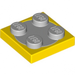 LEGO 4218350 TURN TABLE 2X2 - JAUNE