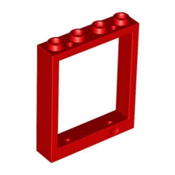 LEGO 615421 FENETRE 1X4X4 - ROUGE
