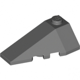 LEGO 4210866  LEFT ROOF TILE 2X4 W/ANGLE - DARK STONE GREY