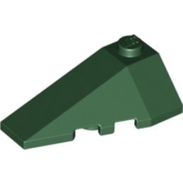 LEGO 4500059  LEFT ROOF TILE 2X4 W/ANGLE - EARTH GREEN
