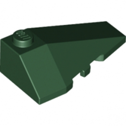 LEGO 4500060 RIGHT ROOF TILE 2X4 W/ANGLE - EARTH GREEN