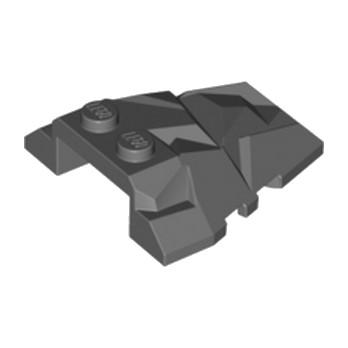 LEGO 6055063 ROOF ROCK TILE 4X4 W.ANGLE - DARK STONE GREY