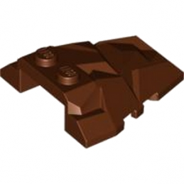 LEGO  4625274 ROOf ROCK TILE 4X4 W.ANGLE - REDDISH BROWN