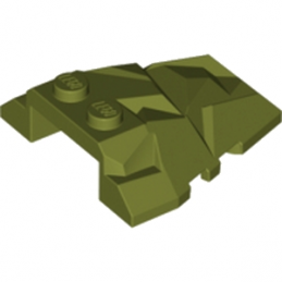 LEGO 6016463 ROOf ROCK TILE 4X4 W.ANGLE - OLIVE GREEN