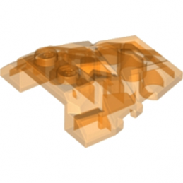 LEGO 6120910  ROOF ROCK TILE 4X4 W.ANGLE - TRANSPARENT ORANGE