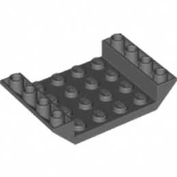 LEGO 4212508 INV. ROOF TILE 4X6, 3XØ4.9 - DARK STONE GREY