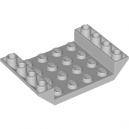 LEGO 4211602 INV. ROOF TILE 4X6, 3XØ4.9 - MEDIUM STONE GREY