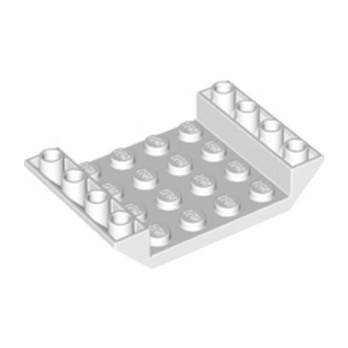 LEGO 4613786  INV. ROOF TILE 4X6, 3XØ4.9 - BLANC