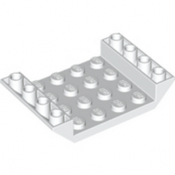 LEGO 6345204 INV. ROOF TILE 4X6, 3XØ4.9 - WHITE