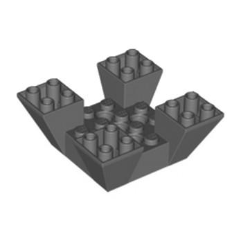 LEGO 4210640 EDGED BRICK W. SNAP 6X6X2 - DARK STONE GREY