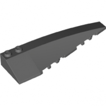LEGO 6188514 RIGHT SHELL 3x10 - DARK STONE GREY