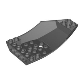 LEGO 4212507 SHELL 6X10X2 INV. - DARK STONE GREY